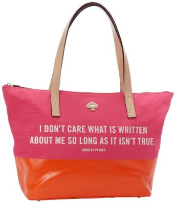 """Things Loved Lately - Kate Spade """"I Don't Care What is Written About Me"""" Tote   www.allthingsgd.com"""