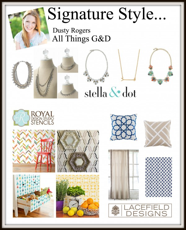 "Blogger Signature Style Series & GIVEAWAY! Blogger Dusty Rogers from All Things G&D shares her ""Polished Casual & Eclectic"" style! 