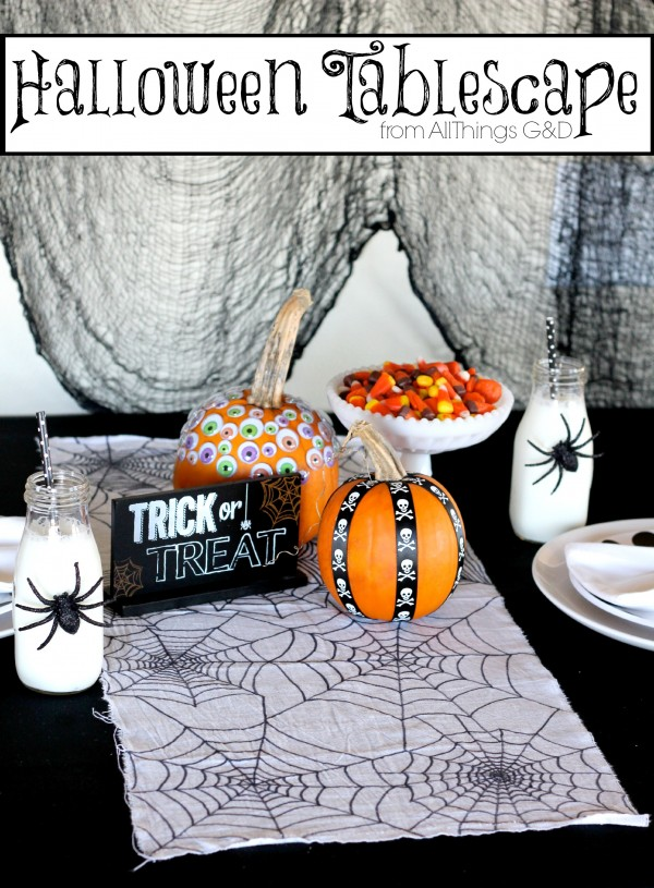Halloween Tablescape from All Things G&D