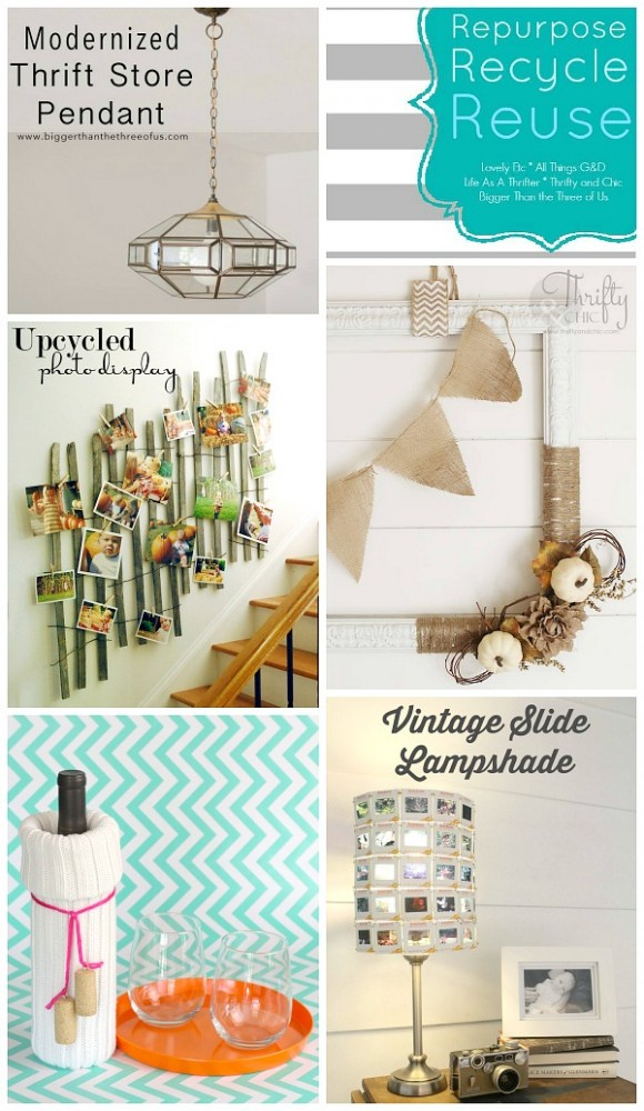A collection of #repurposed, #recycled and #reused items to diy!