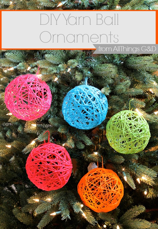 How To Make Decorative String Balls Amazing Yarn Ball Ornaments  All Things G&d Inspiration Design
