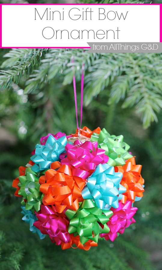 this diy mini gift bow ornament is the easiest thing youll make this holiday - Christmas Decorations Bows