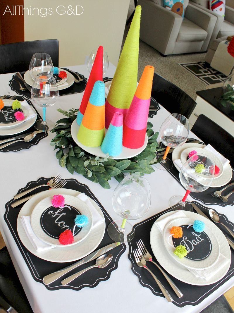 Colorful Christmas Tablescape All Things G Amp D