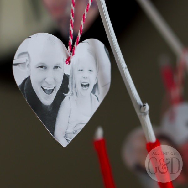 Create a DIY Valentine Tree from your favorite family photos. | All Things G&D