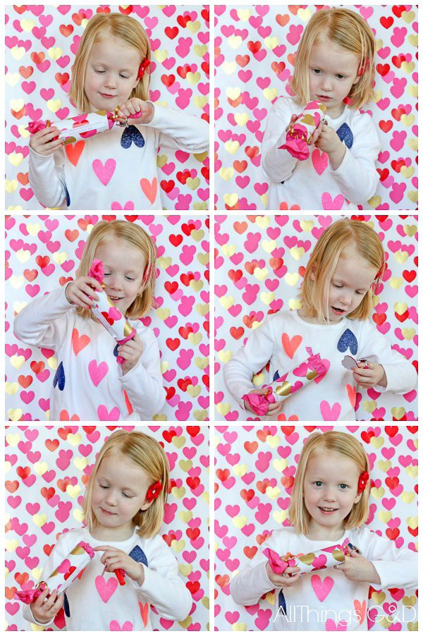 Surprise your little one this #Valentine's Day with these DIY Valentine Poppers - includes free printable! | www.allthingsgd.com