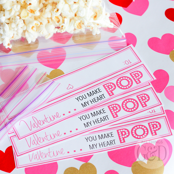 image relating to Popcorn Valentine Printable titled On your own Crank out My Center Pop\