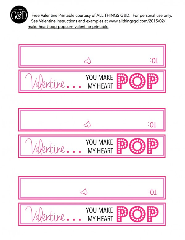 graphic regarding Popcorn Valentine Printable named By yourself Produce My Center Pop\
