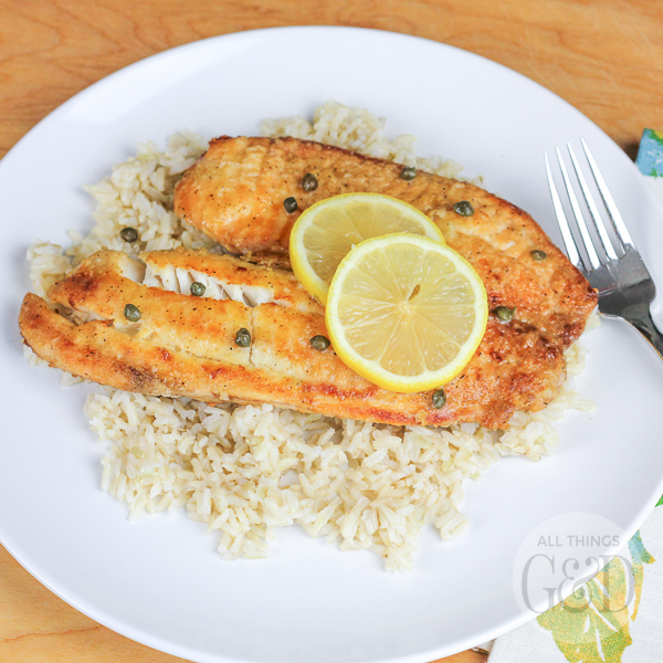 This Tilapia Piccata recipe is the perfect compromise for those who like their fish battered and deep-fried and those who prefer a healthy, lighter option!