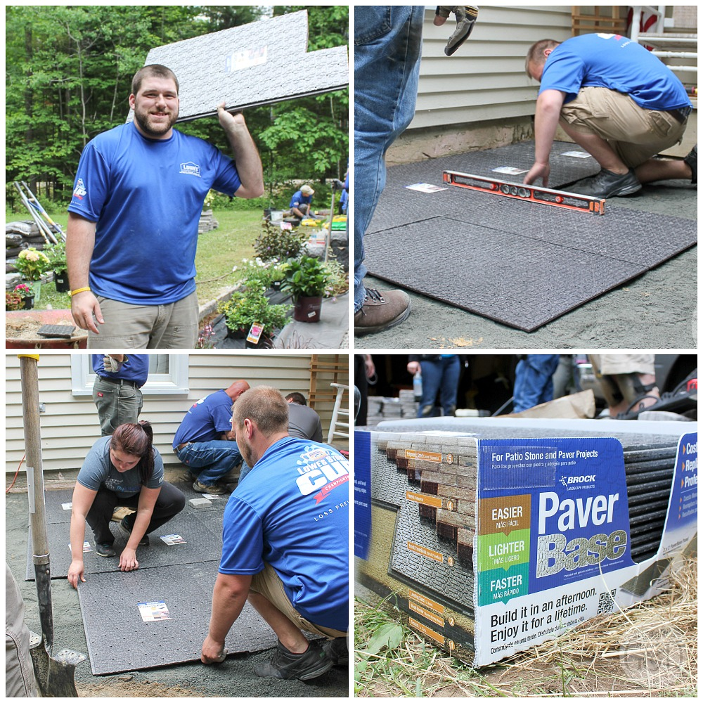 Lowe's Front Yard Makeover in Portland, Maine featuring a step-by-step paver patio install and trim-free landscape edging.
