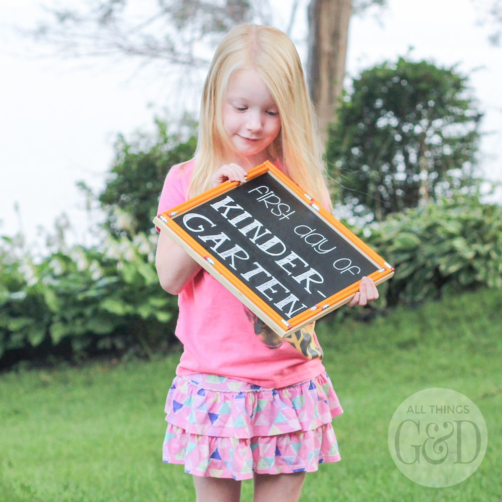 Kate's First Day of Kindergarten | All Things G&D