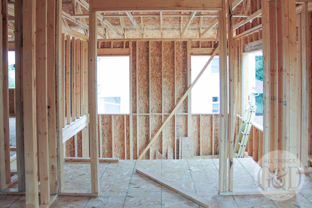 """Framing is almost complete for the """"ATG&D Dream Home"""" being built in Cambridge, WI! #ATGDdreamhome"""