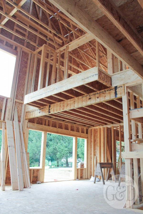 "Framing is almost complete for the ""ATG&D Dream Home"" being built in Cambridge, WI! #ATGDdreamhome"