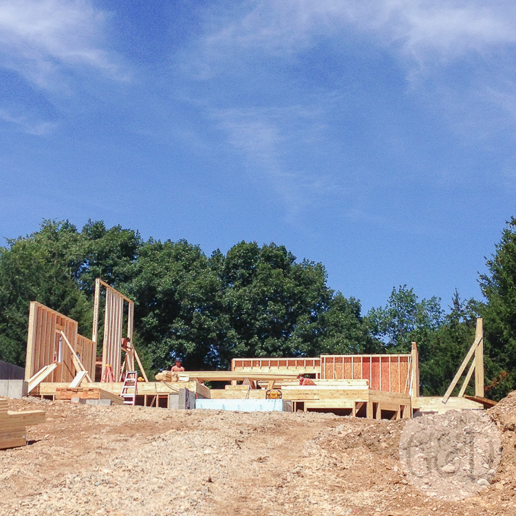 Framing of the ATG&D Dream House being built in Cambridge, WI wraps up and the roofing begins. | All Things G&D #ATGDdreamhome