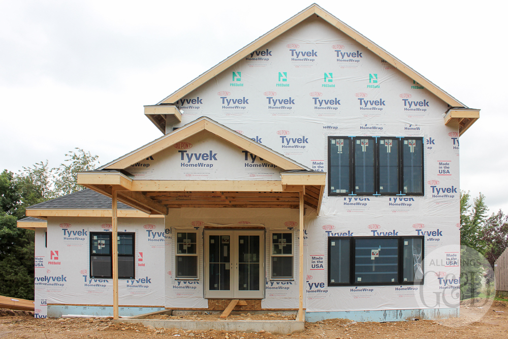 A look at the black windows we chose for our dream home, all the different considerations that go into selecting a window style, and how we mixed it up to fit our budget. | All Things G&D #ATGDdreamhome #newhomeconstruction #customhome #customhomeconstruction