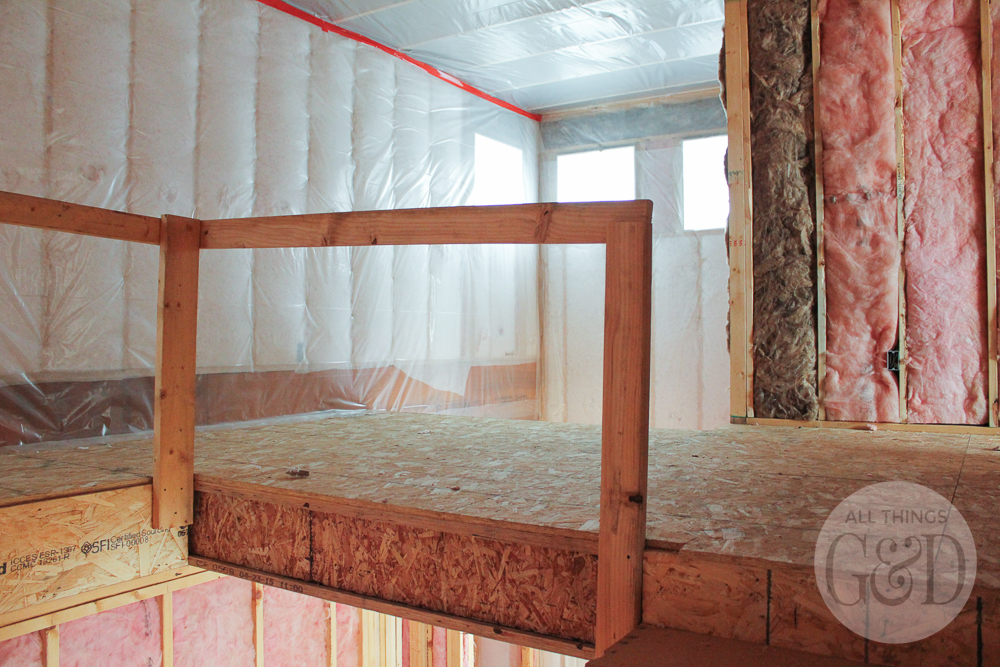 Insulation being installed in our dream home. | All Things G&D #ATGDdreamhome #newhomeconstruction #customhome #customhomeconstruction