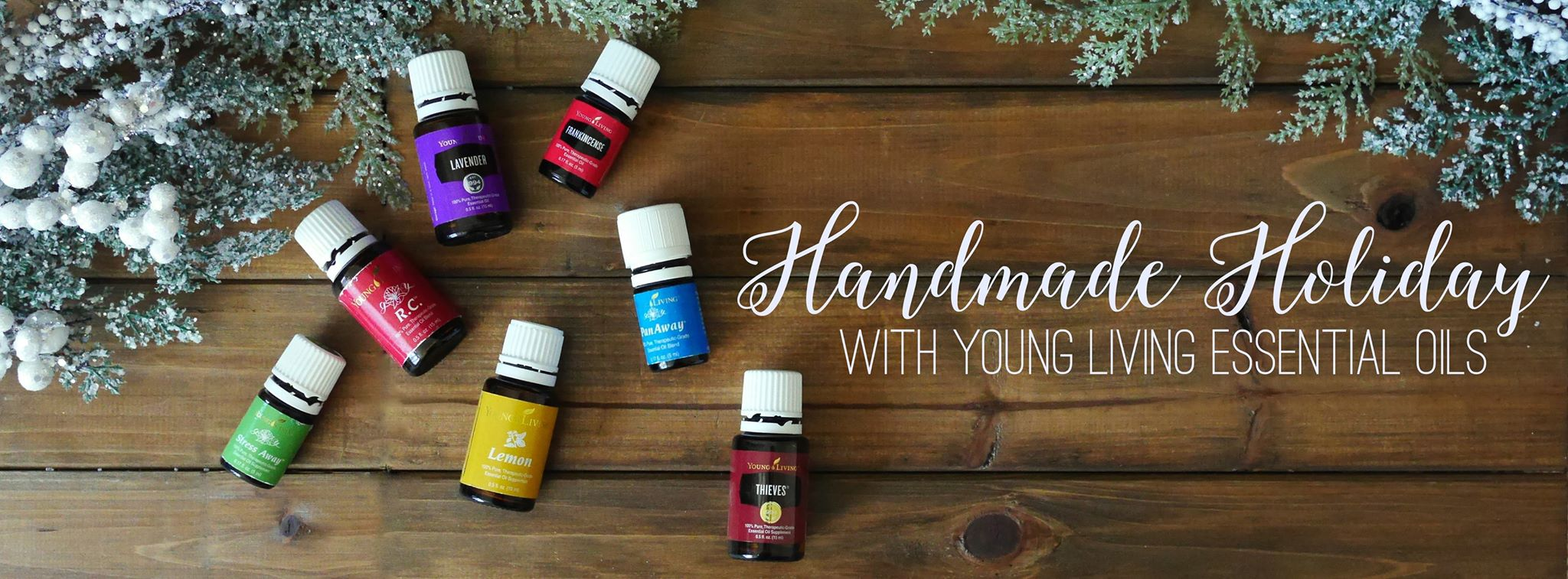 Handmade gifts made using essential oils.
