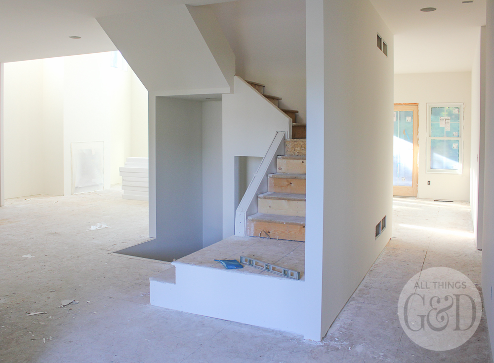 ATG&D Dream Home - new construction series; interior paint (Sherwin Williams Ivory Lace - SW 7013) | www.allthingsgd.com
