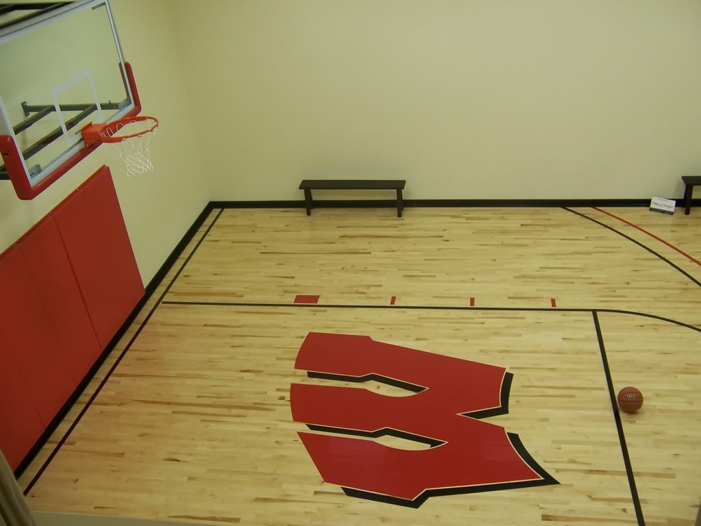 Parade of homes indoor basketball court all things g d for Indoor basketball court construction