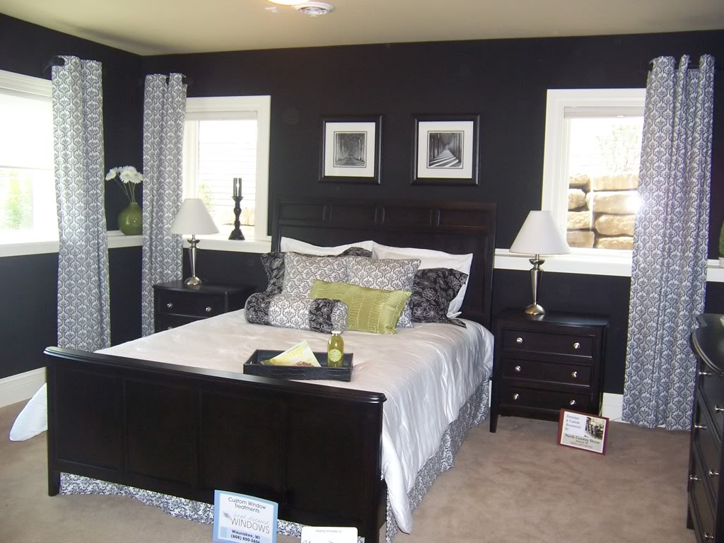 This Black White Guest Room Featured In Temple Construction S Southbridge Parade Of Homes Home Was Too Cool Not To Have Its Own Post