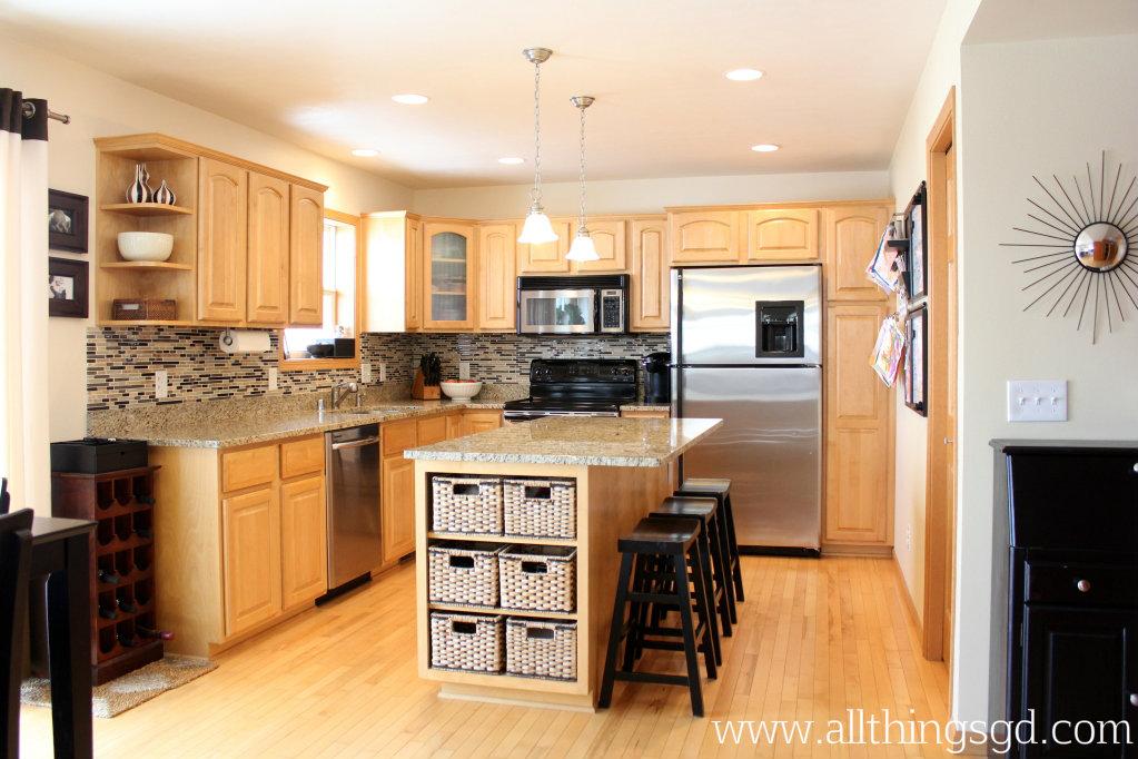 Our New Kitchen DIY Tile Backsplash (click To Enlarge)!