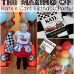 The Making of Kate's Cars Birthday Party