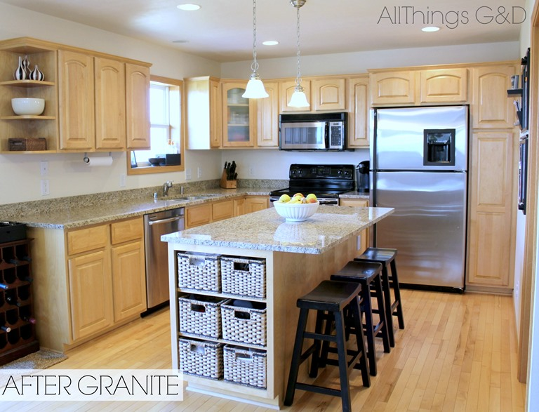 Going Gray - All Things G&D on What Color Granite Goes With Maple Cabinets  id=44786