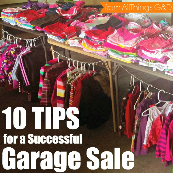 Homes Com Garage Sale Tips All Things G Amp D