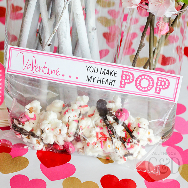 Quot You Make My Heart Pop Quot Popcorn Valentine Printable