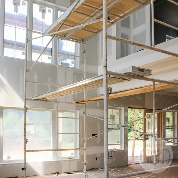 ATG&D Dream Home | Downstairs Drywall