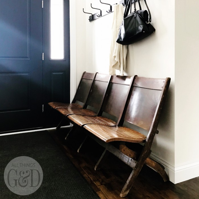 Entryway Antique Church Bench