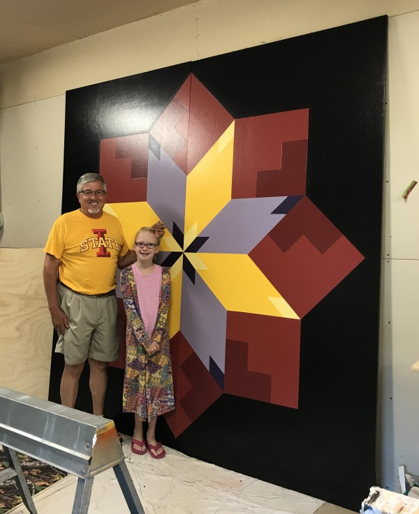 Kate + Artist Jim Leuenberger who has created more than 300 barn quilts in Shawano County